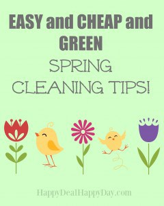 EASY and CHEAP and GREEN Spring Cleaning! Sounds like the perfect plan for spring cleaning!