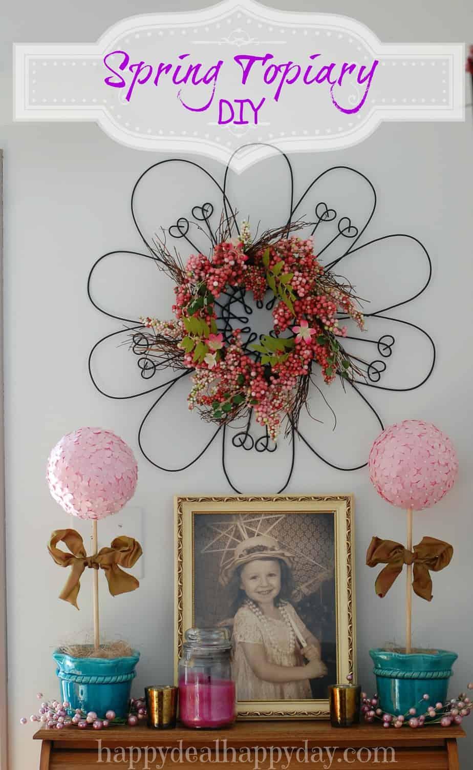 Diy Yarn Wreath With Twine Flowers Happy Deal Happy Day
