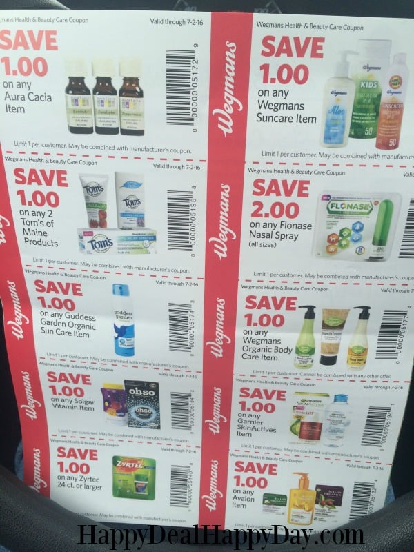 wegmans spring booklet coupons 099 band aid deal happy deal happy day