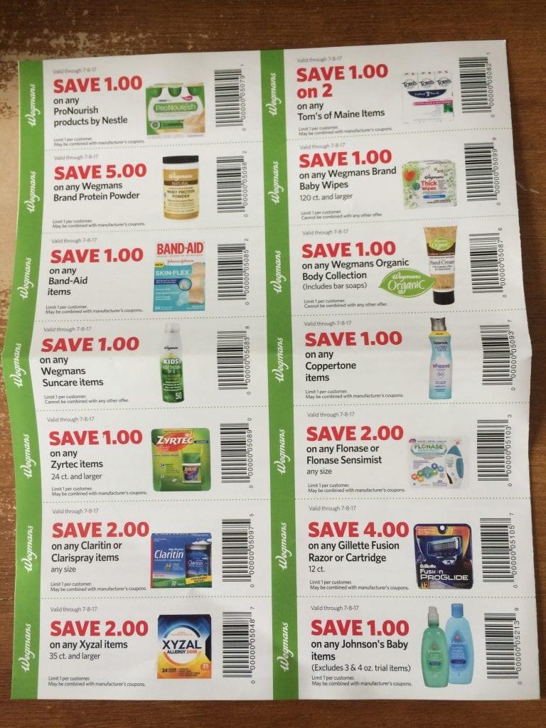 wegmans spring 2017 coupons