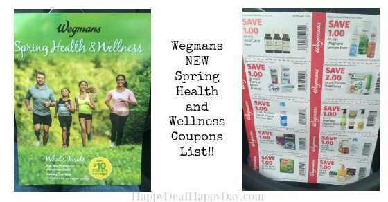 Spring Health & Wellness Booklet – New List of Wegmans Coupons!