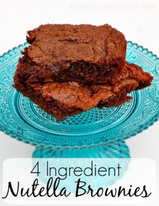 4 ingredient nutella brownies text