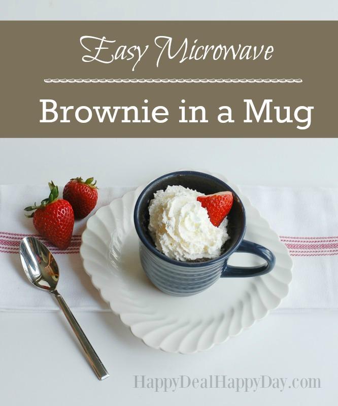 90 Second Easy Microwave Brownie in a Mug