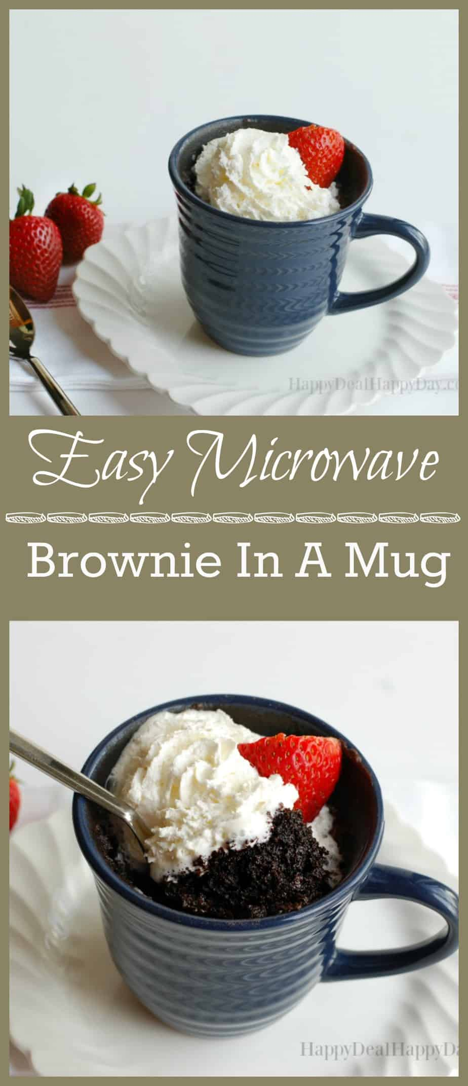 90 Second Easy Dessert Recipe Microwave Brownie In A Mug Recipe Happy Deal Happy Day