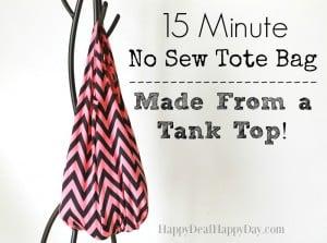 no sew tote bag from tank top horizontal