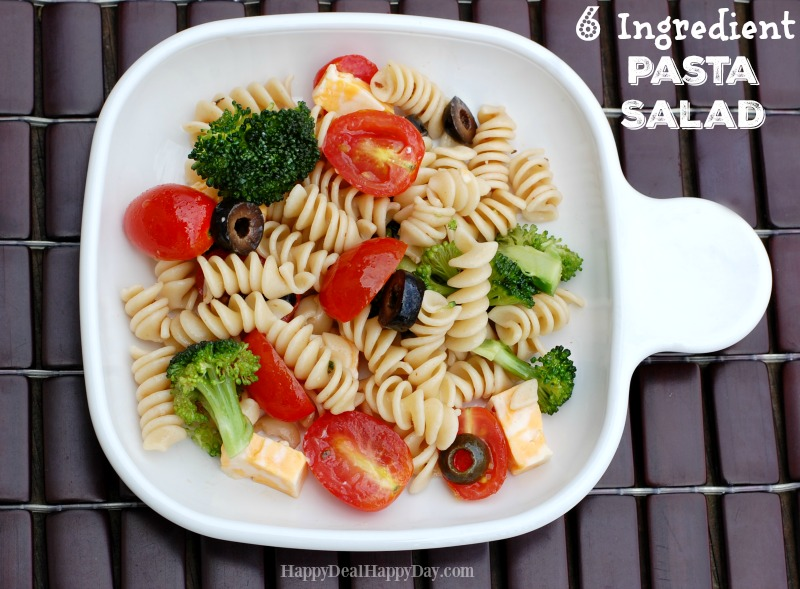 6 Ingredient EASY Pasta Salad Recipe