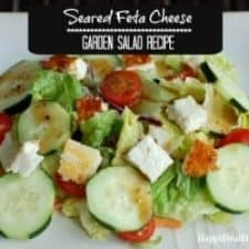 Healthy Pan Seared Feta Cheese Salad Recipe