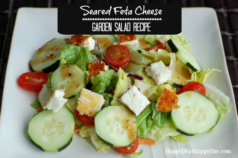 Have you ever tried seared feta cheese?? Super yummy flavor to add to any garden salad! Happydealhappyday.com