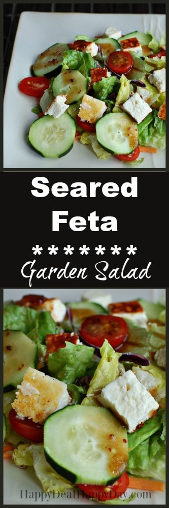 seared feta garden salad