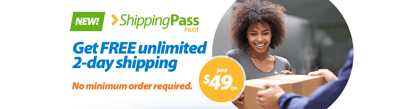 Walmart:  NEW Shipping Pass – FREE 2-Day Shipping, No Minimum for $49/yr!!