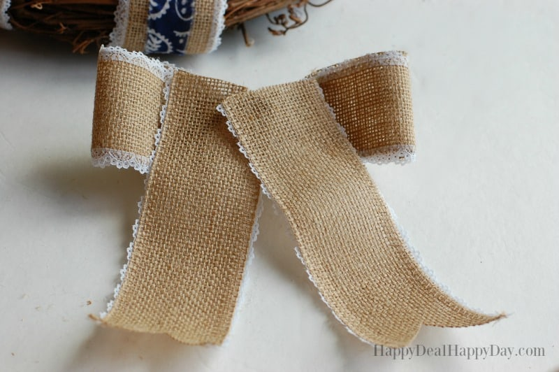 how to make a burlap bow