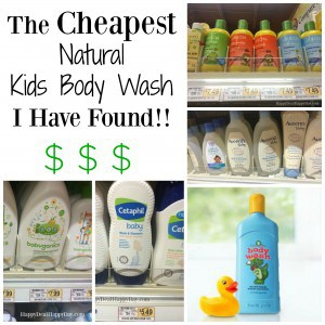 The Cheapest Natural Kids Body Wash I Have Found