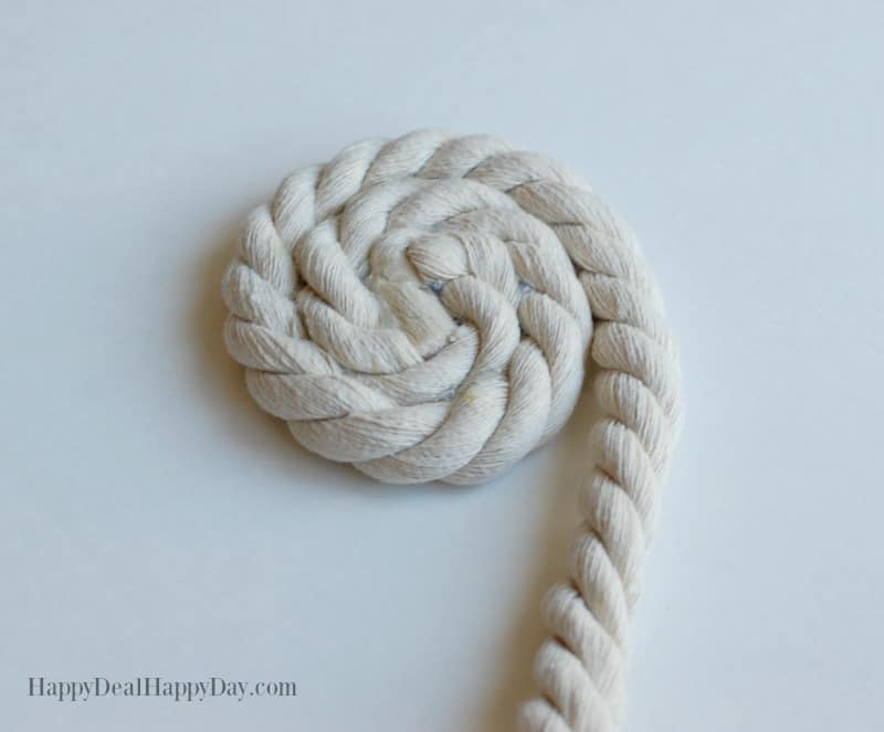 No Sew Rope Bowl