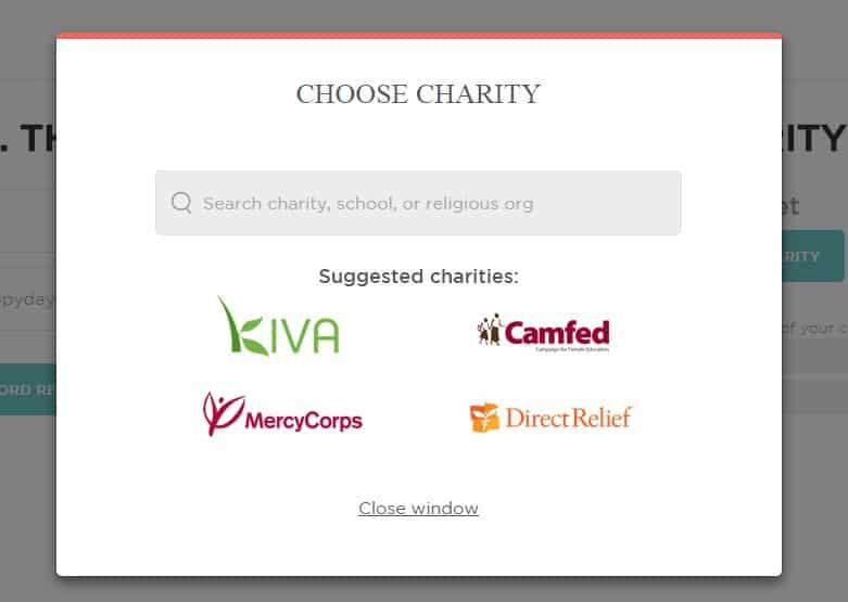 socialix choose charity