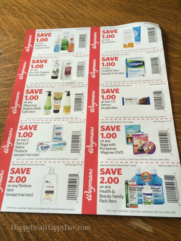 New Wegmans Back To School Coupon Booklet   New Coupons  Happy