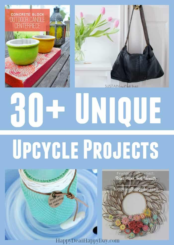 30+ unique upcycle projects - learn how to upcycle toilet paper rolls, sea glass, cookie tins and more! These projects are so cool!