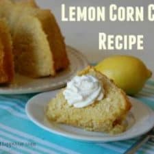 Easy Lemon Corn Cake Recipe