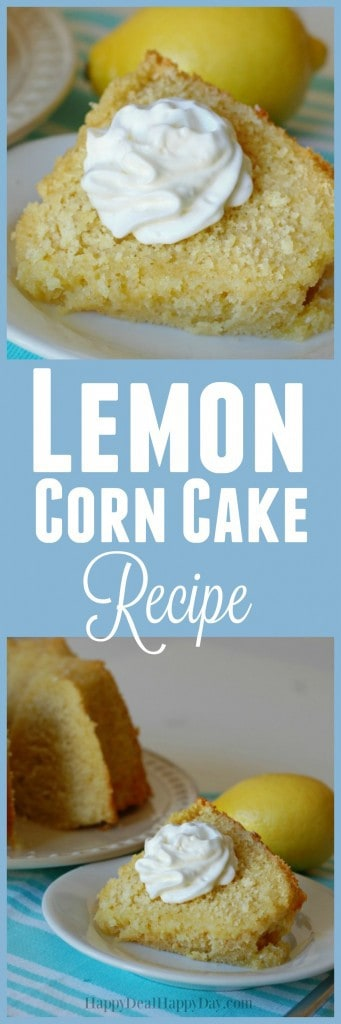 Lemon Corn Cake Recipe - this is an easy cake recipe from scratch that is rich, lemony, and delicious!