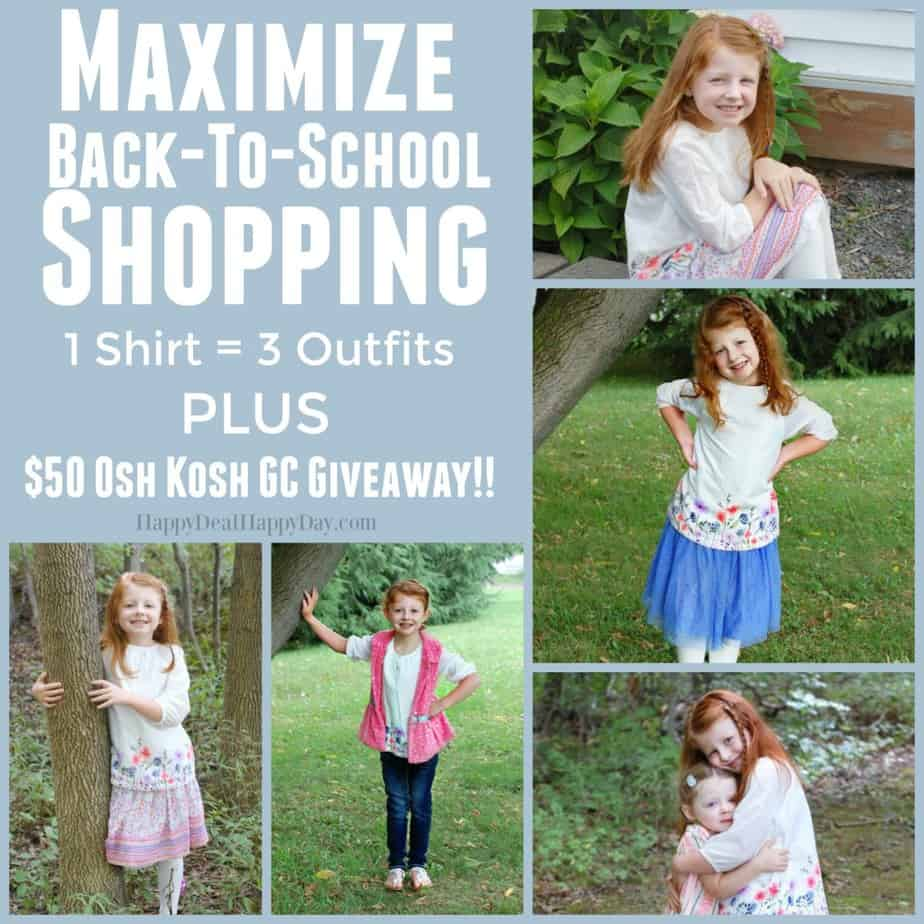osh kosh maximize back to school shopping square text