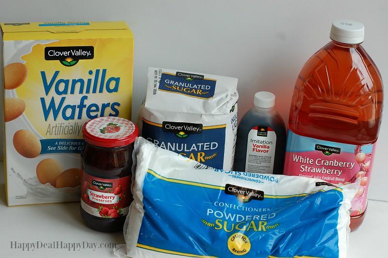 Strawberry Icebox Cake ingredients