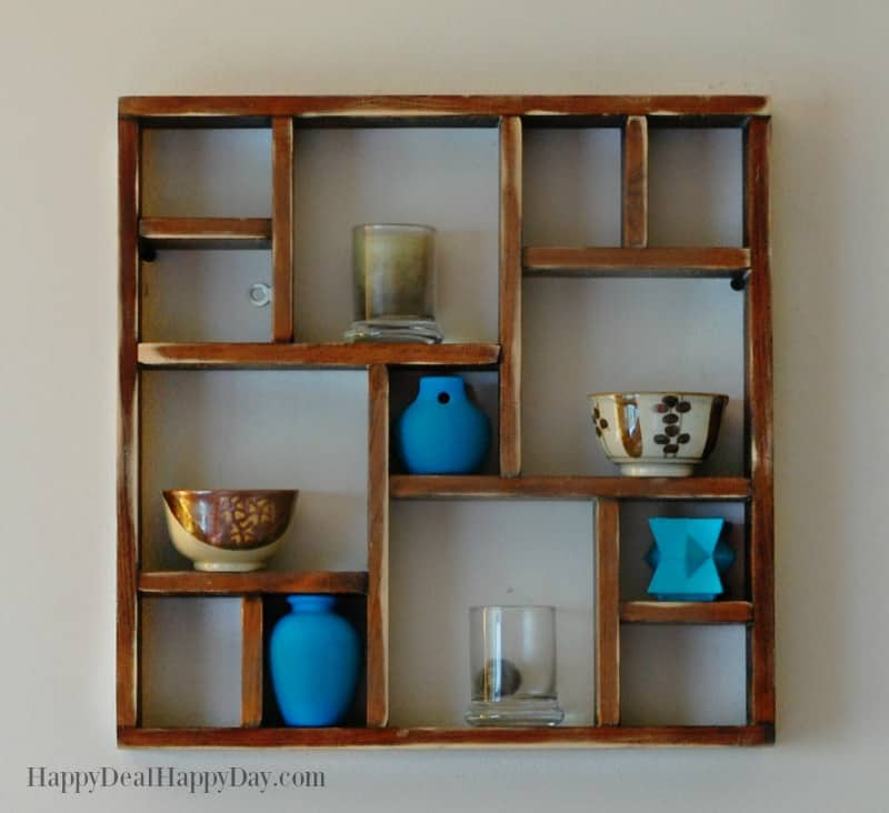 Shabby Chic Display Shelf Makeover