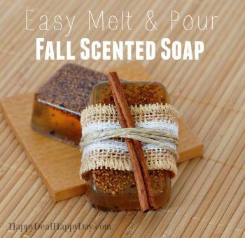 Easy Melt & Pour Fall Scented Soap with Free Printable Soap Labels