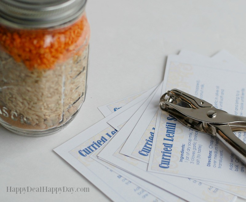 Dry Soup Mix In A Jar Recipes with free printable recipe card
