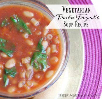 Vegetarian Pasta Fagioli Soup Recipe