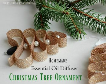 homemade essential oil diffuser christmas tree ornament happy deal happy day - Christmas Essential Oils