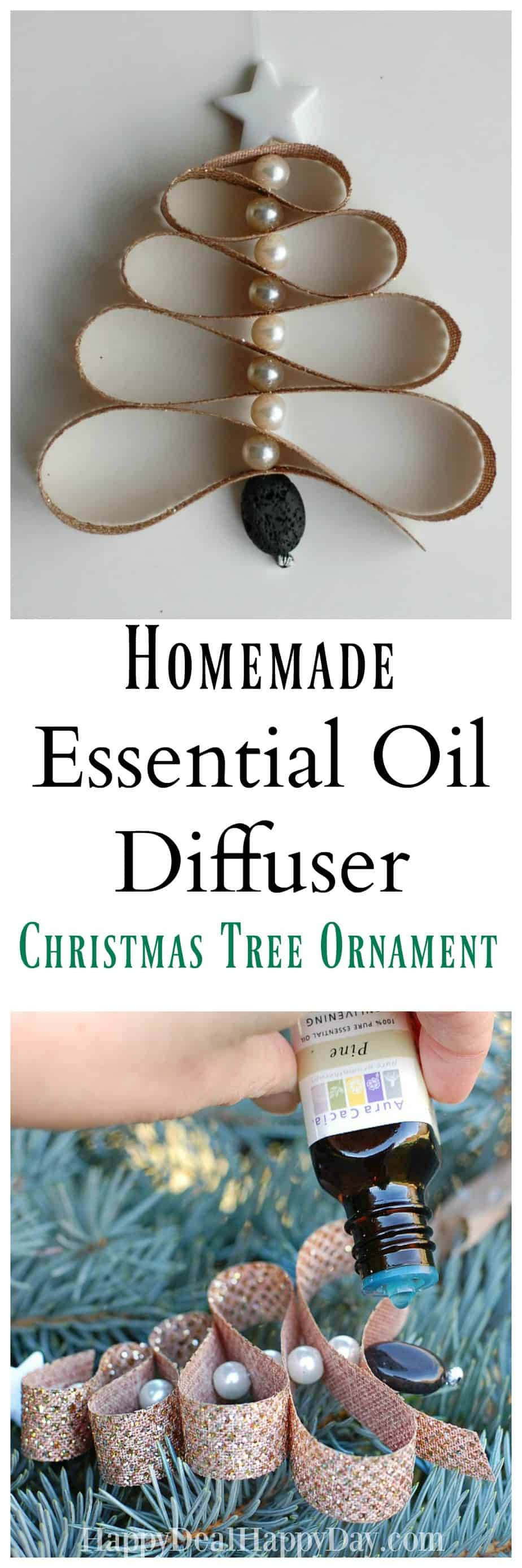 Homemade Essential Oil Diffuser Christmas Tree Ornament | Happy Deal - Happy Day!
