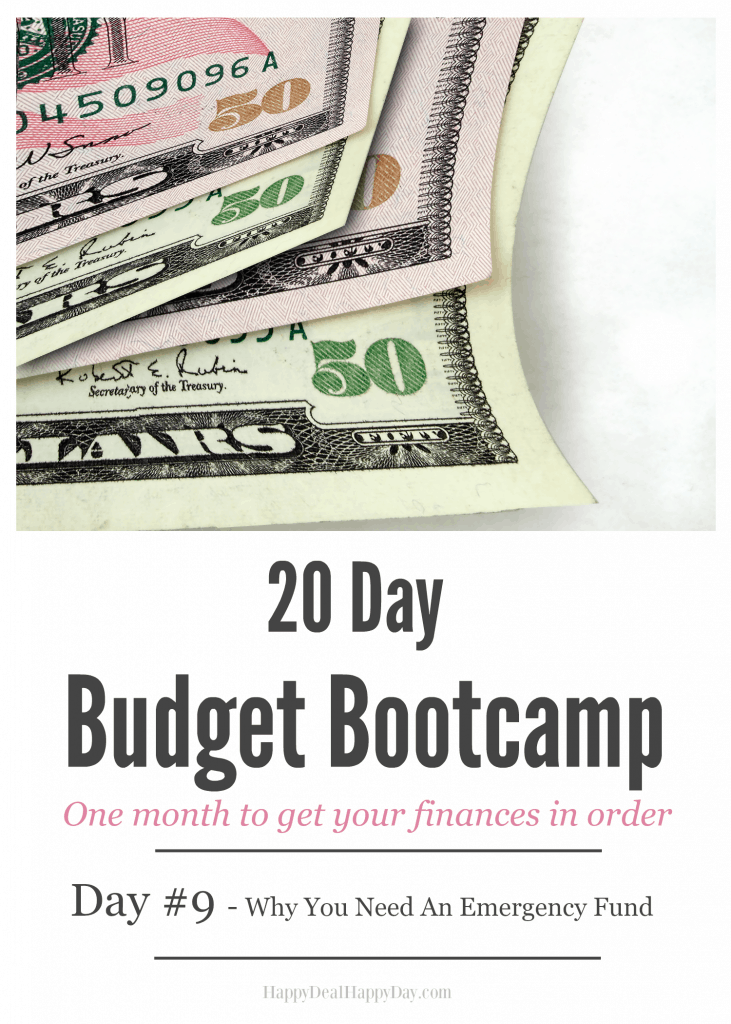 20 Day Budget Challenge - Day #9 - How to build an emergency.  We all need $1000 (at least) on hand in case of emergency.  I'll show you ways to get that $1000 in savings!