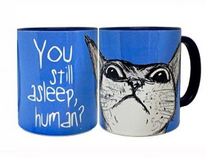 Peeking Cat Mug by Pithitude