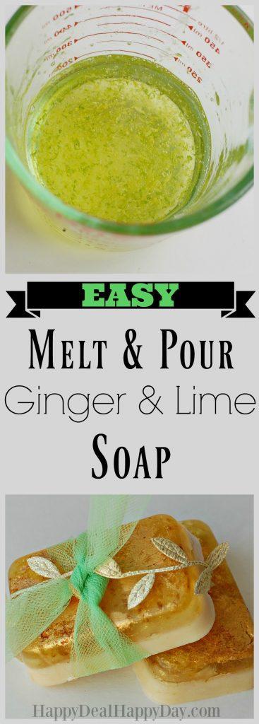 easy melt & pour ginger & lime soap vertical