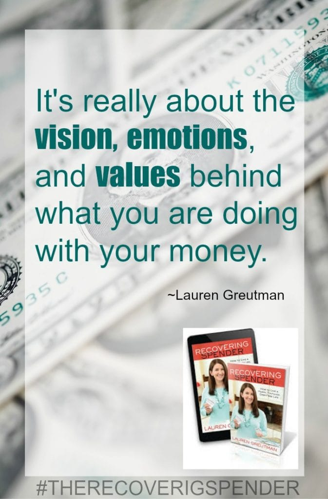 recovering spender money quote