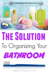 The Solution To Organizing a Bathroom! - genius ways you may not have thought of how to utilize space in your bathroom!