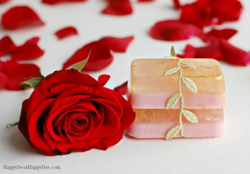 Easy DIY Homemade Melt & Pour Rose Soap with Glycerin & Goats Milk