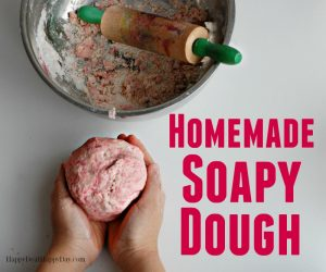 Soapy Homemade Play Dough For Kids