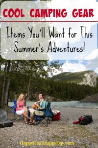 Cool Camping Gear - cool items you'll want for this summer's adventures! I bet there's something on this list you've never even heard of before!