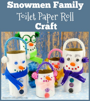 Snowmen Family Toilet Paper Roll Craft Happy Deal