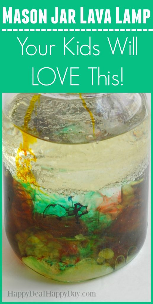 mason jar lava lamp - your kids will LOVE this fun activity that you can do with ingredients you already have in your kitchen!!