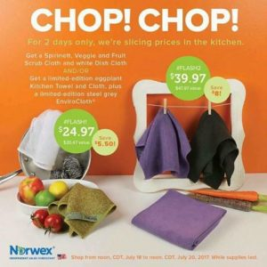 Norwex 2 Day Flash Sale:  Get An Envirocloth, Kitchen Towel & Cloth for $39.97 – Normally $47.97!