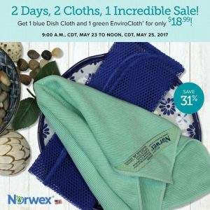 Norwex 2 Day Flash Sale:  Get An Envirocloth & Dish Cloth for $18.99 – Normally $27.48!