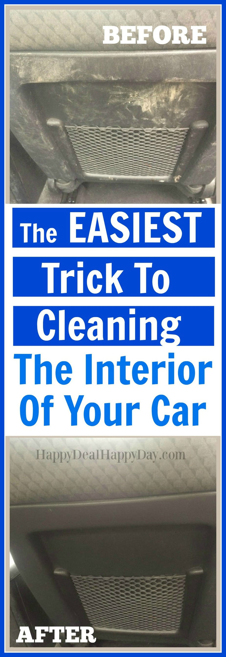 clean car hack how to clean the interior of your car in record time without spray cleaners or. Black Bedroom Furniture Sets. Home Design Ideas
