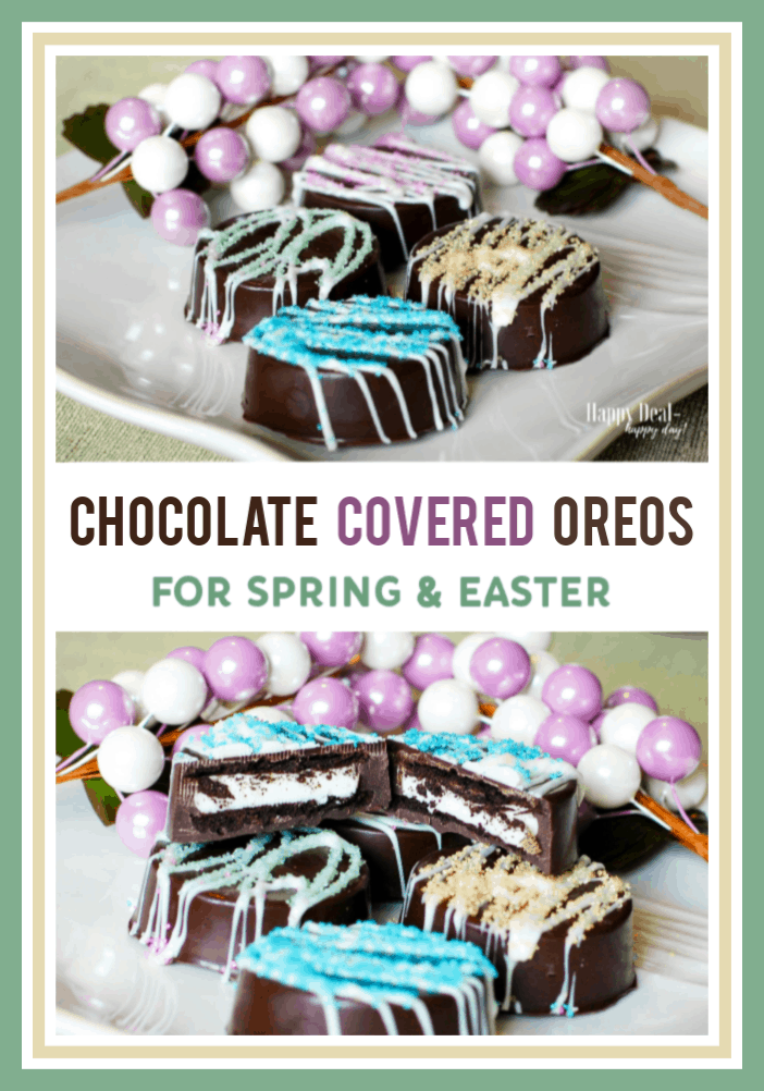 Chocolate Covered Oreos For Spring
