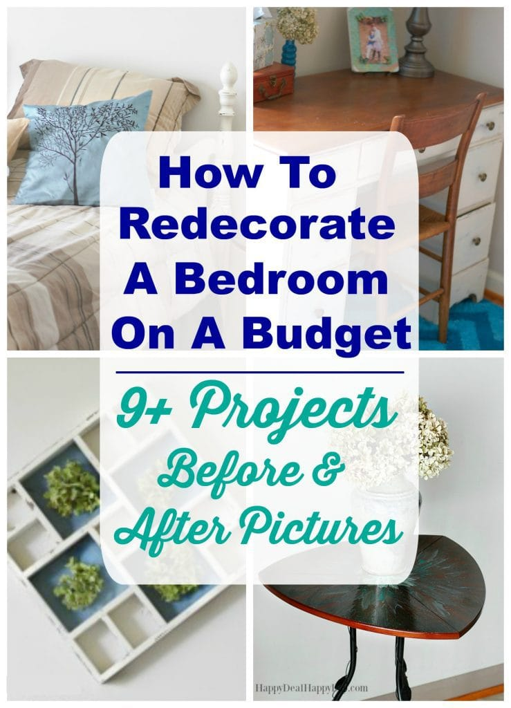Re-Decorate a Room on a Budget - here are 9+ project ideas with before and after pics. You don't have to spend a fortune to update a room full of old furniture!!!