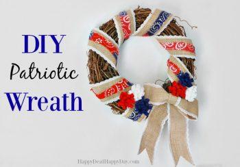 Easy DIY Patriotic Wreath Tutorial