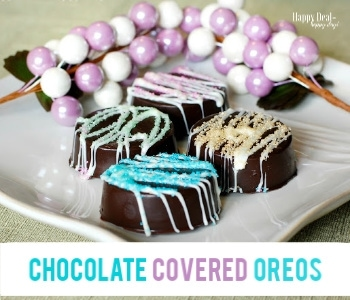 Chocolate Covered Oreos For Spring!