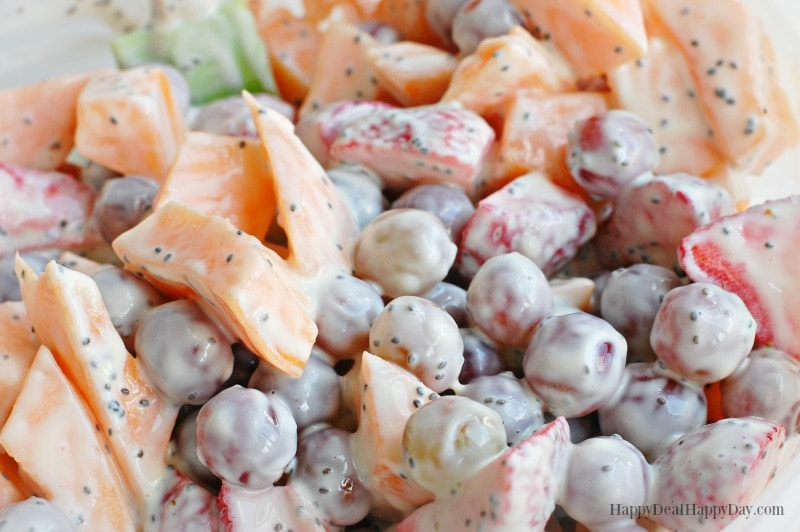 Fruit Salad Dressing Recipe up close