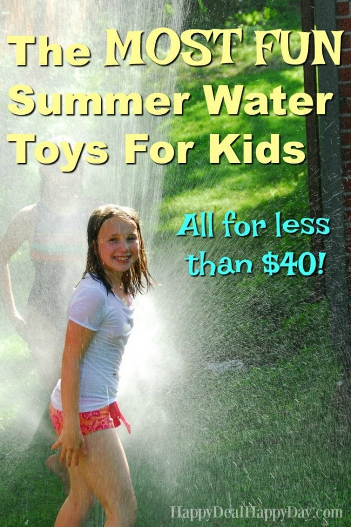 Summer Water Toys - here is a great list all under $40 with many under $25! With both of my daughters having summer birthdays, this is a great resource!