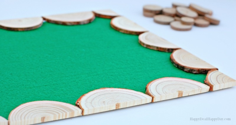 Easy DIY Wood Slab Placemat